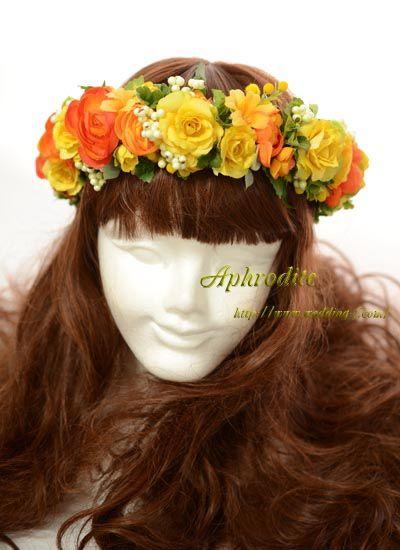 イエロー&オレンジ「ビタミンカラーの花冠」