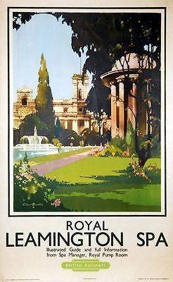 Vintage British Rail Royal leamington Spa by VintagePosterShopUK