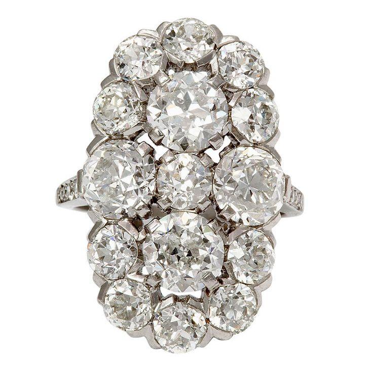 Anillo racimo de diamantes de Cartier 1930
