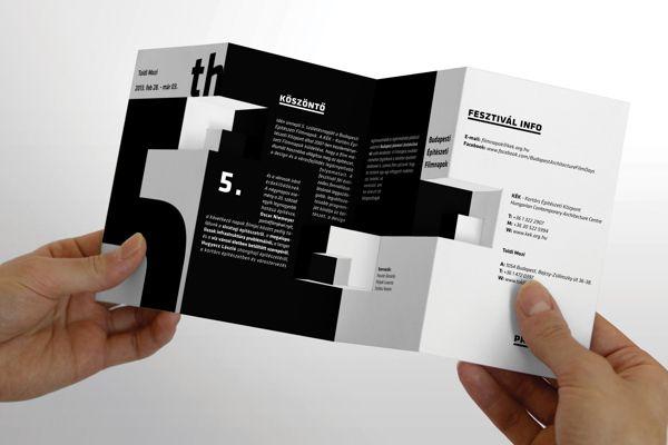 festival brochure design - 5 budapest architecture film festival brochure on behance