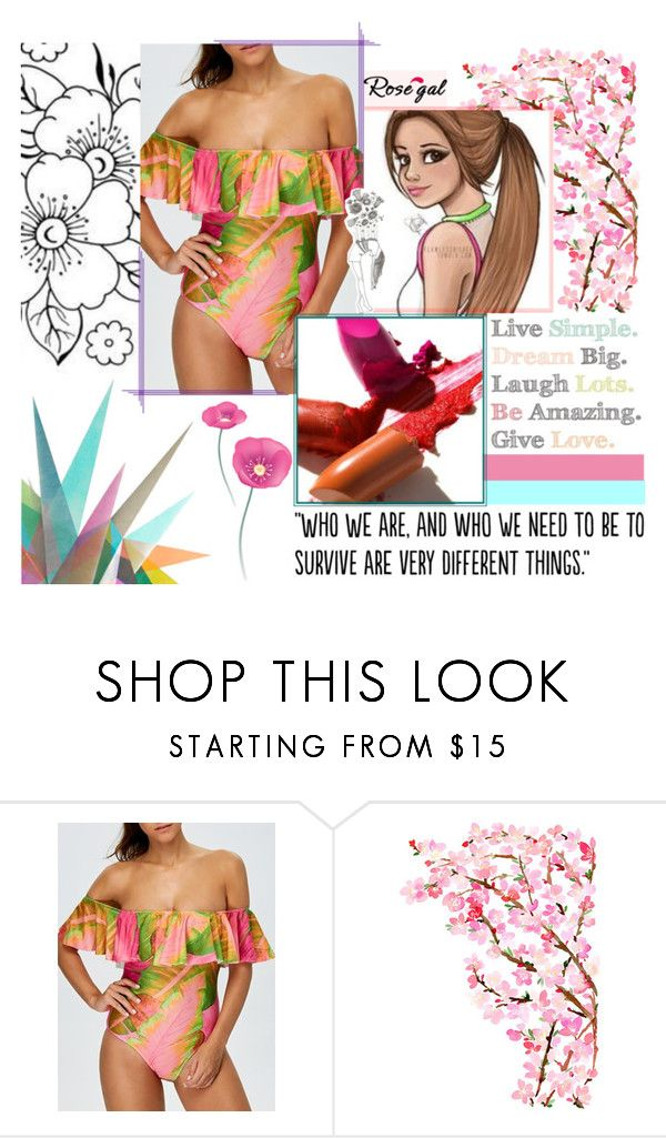 """""""#Simple"""" by juromi ❤ liked on Polyvore featuring Krystal, Populaire, amazing, New, women and rosegal"""