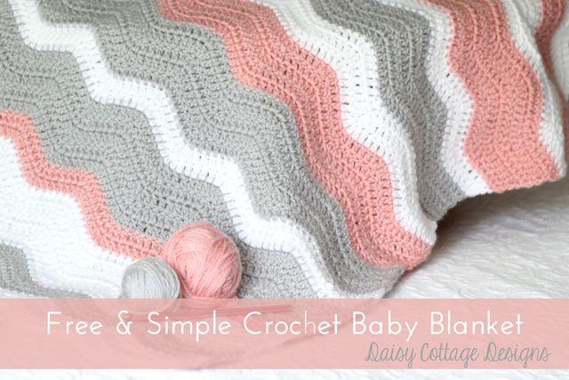 Free Crochet Pattern - Ripple Baby Blanket - Daisy Cottage Designs ༺✿Teresa Restegui http://www.pinterest.com/teretegui/✿༻