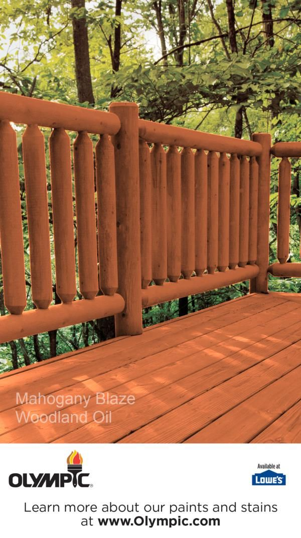 MAHOGANY BLAZE Is A Part Of The Olympic Elite Colors   Woodland Oil  Collection By Olympic