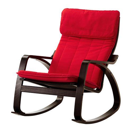 POÄNG Sedia a dondolo - Ransta rosso, marrone-nero - IKEA