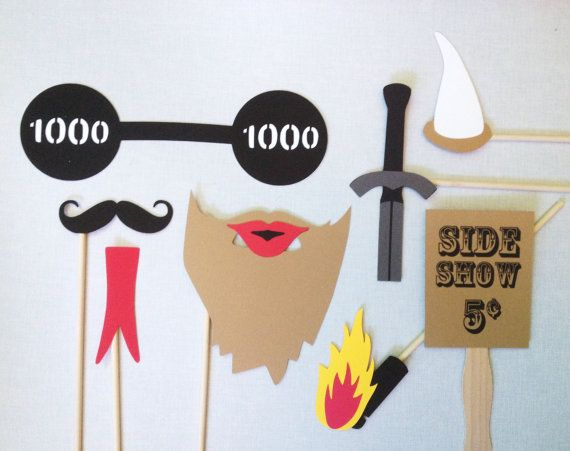 8 Side Show Photo Booth Props - Oddities #Photo #Booth - Circus Photo Booth