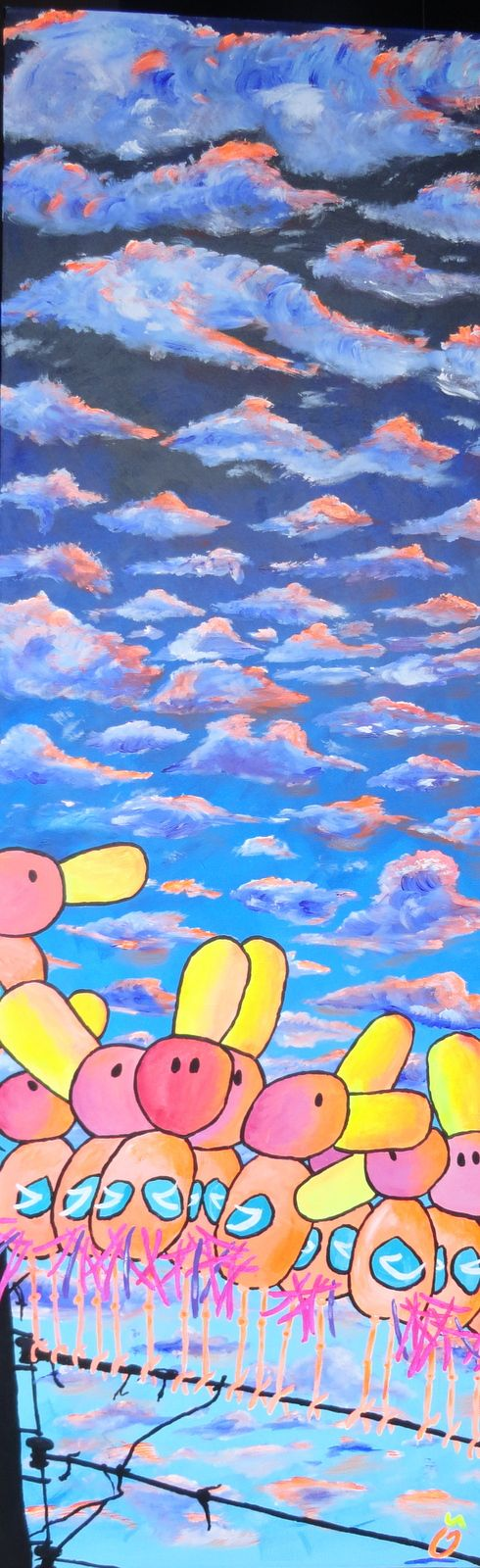 """COLORFUL CLOUD SPECTACLE"". 39.4 – 59.1 Inch (100 – 150 cm) 