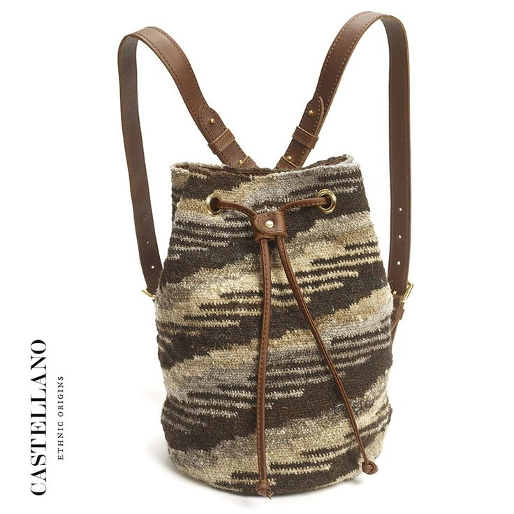 The backpack is handcrafted with 100% soft leather and is made for limited edition. By buying this bag you are supporting the Wayuu craftsmanship and empowering women in this ethnic community to develop their skills and have a better standard of living. Through CASTELLANO's products, the cultural heritage and internationally renowned weaving skills are being preserved.