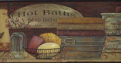 Bathroom Borders For Walls Borders Bath Tropical