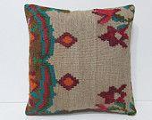 retro pillowcase 18x18 vintage pillowcase modern cushion cover floor cushion cover bohemian cushion oversize cushion kilim pillow sham 23593