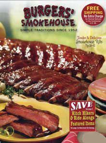 Picture of smoked meats from Burgers' Smokehouse catalog