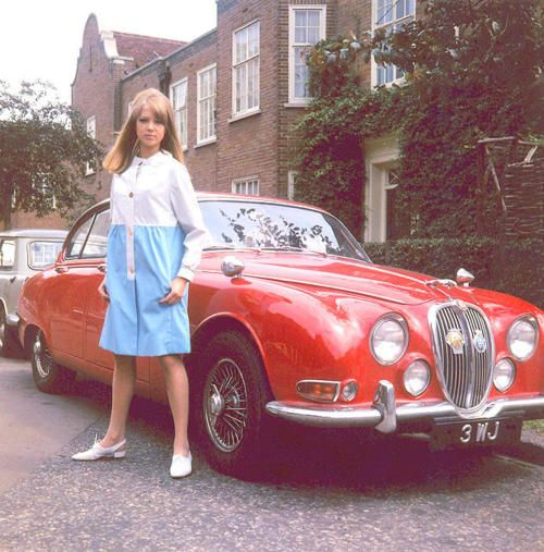 Patty Boid  with Jaguar MK II