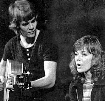 Lasse Berghagen and Anni-Frid Lyngstad 1972