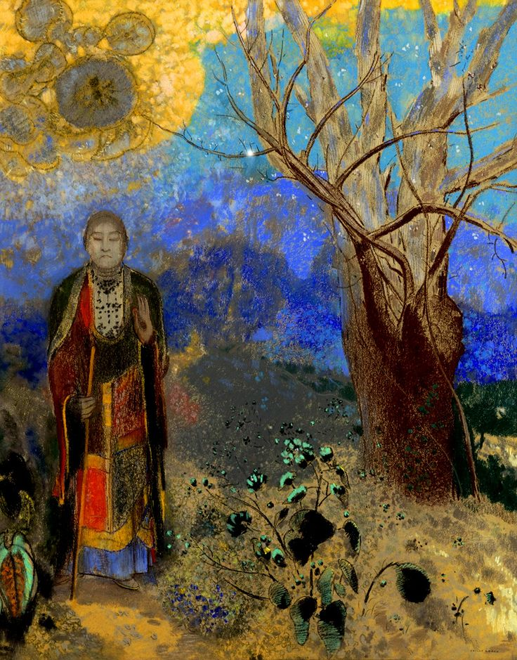 buddha in the garden/ odilon redon