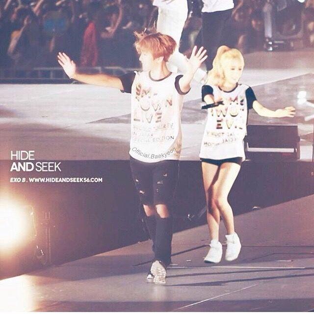 Baekhyun (EXO) and taeyeon (SNSD) Baekyeon
