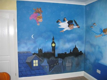 Peter Pan Nursery would be awesome with a Neverland mural on the other walls