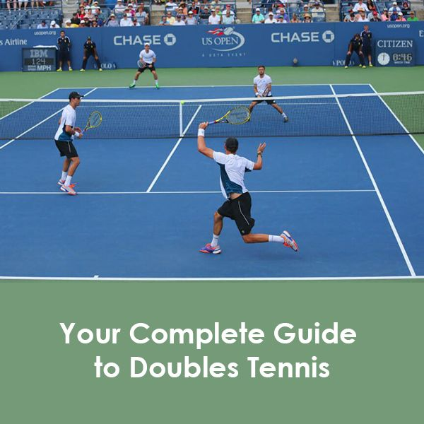 Doubles Tennis Is Played Using The Full 36 Ft 11 M Width Of The Court And With Two Players On Each Side Of The Court Playe Tennis Tennis Doubles Play Tennis