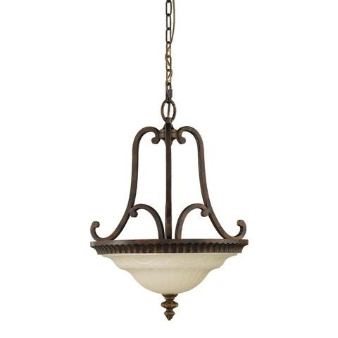 Feiss Drawing Room 2 Light Walnut Amber Snow Chandelier