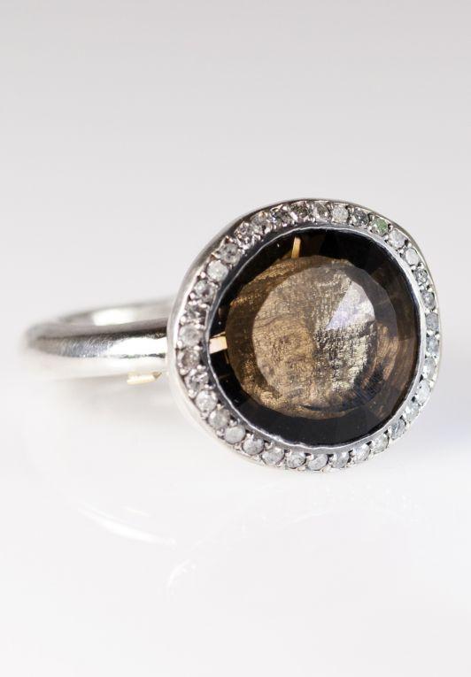 Rosa Maria diamond oval cocktail ring - Metallic rkDBlCZCFk