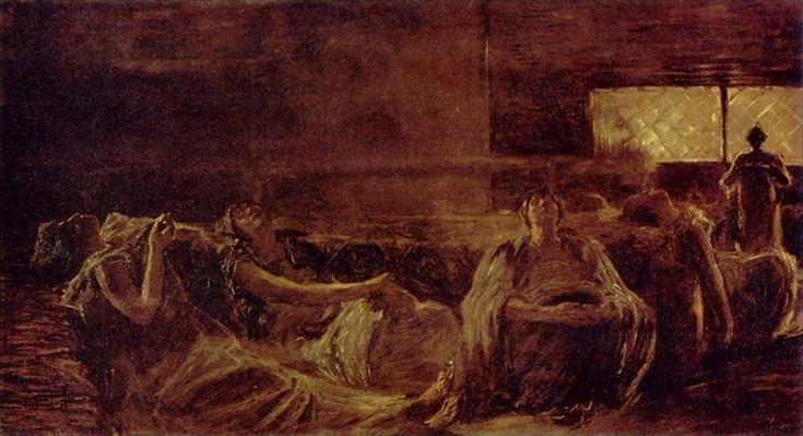 Women Smoking Hashish by Gaetano Previati :: artmagick.com