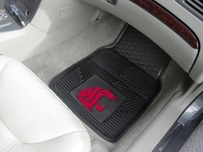 Washington State University 2-pc Heavy Duty Vinyl Car Mat Set by Fanmats. $32.25. Protect your vehicles flooring while showing your team pride. 100% Vinyl construction with non-skid backing. Officially licensed design. True team colors are permanently molded for longevity. Universal fit ideal for cars, trucks, SUV's and RV's. Protect your vehicle's flooring while showing your team pride with car mats by FANMATS. 100% vinyl construction with non-skid backing ensures a ...