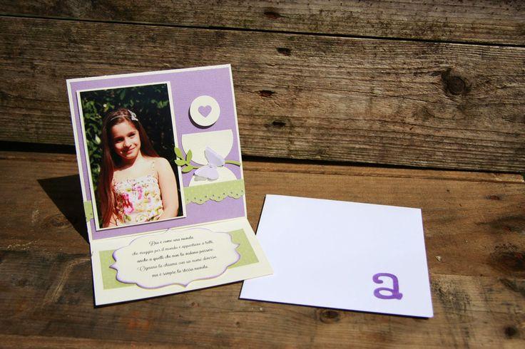 easel card ricordo comunione