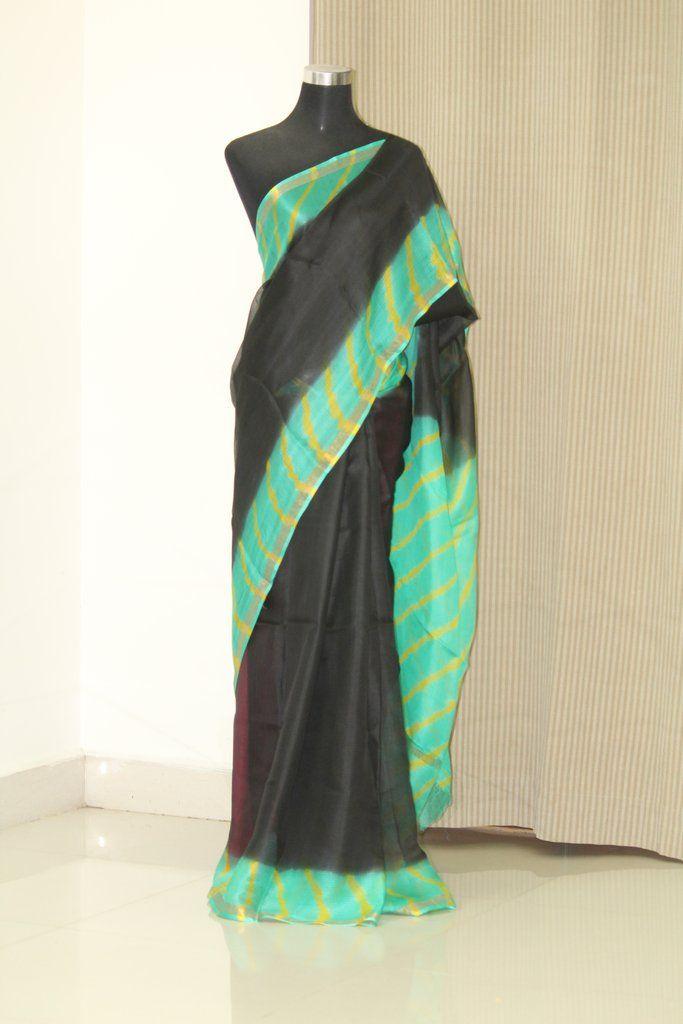 56bae79252 Tie and dye pure kota silk saree in 2019 | akrithi | Kota silk saree ...