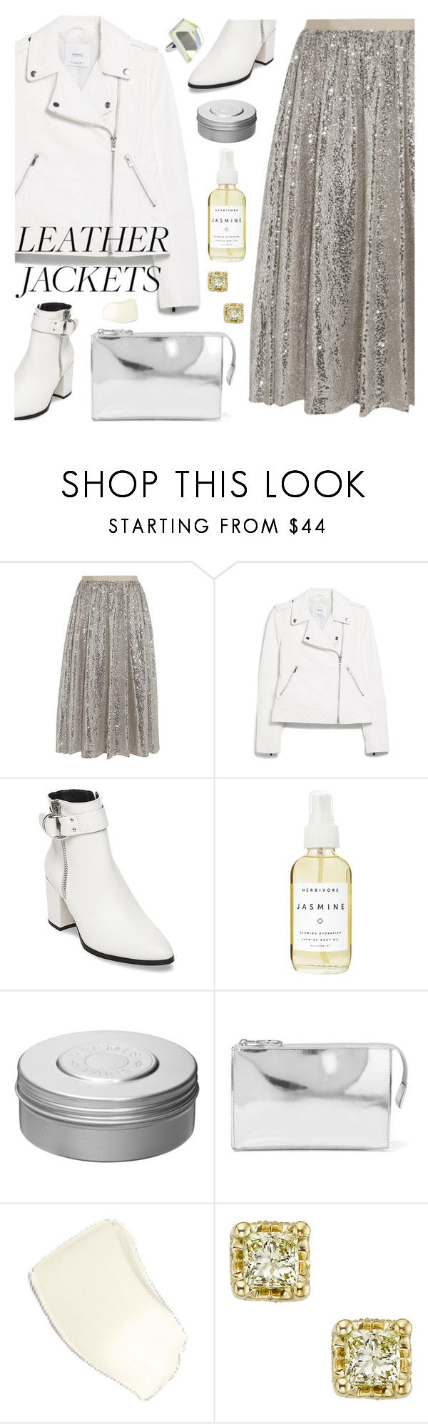 """""""Leather Jackets"""" by deepwinter ❤ liked on Polyvore featuring Alice + Olivia, MANGO, Steve Madden, Herbivore, Hermès, MM6 Maison Margiela and leatherjackets"""