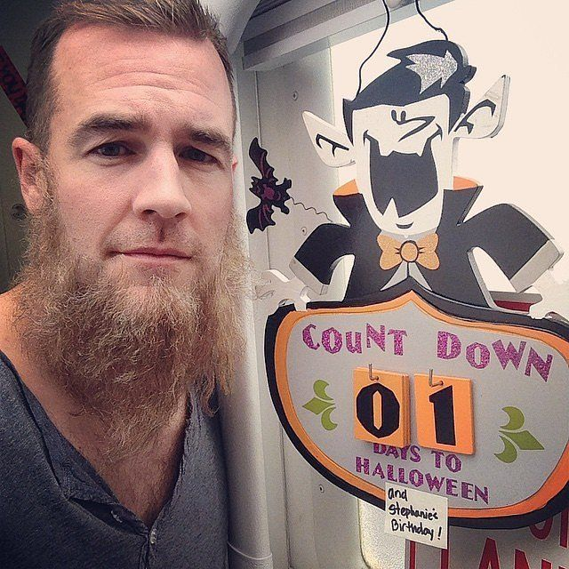 "According to James Van Der Beek, ""a good fake beard can lend itself to multiple costumes... Take off the moustache and, poof! I'm Amish."""