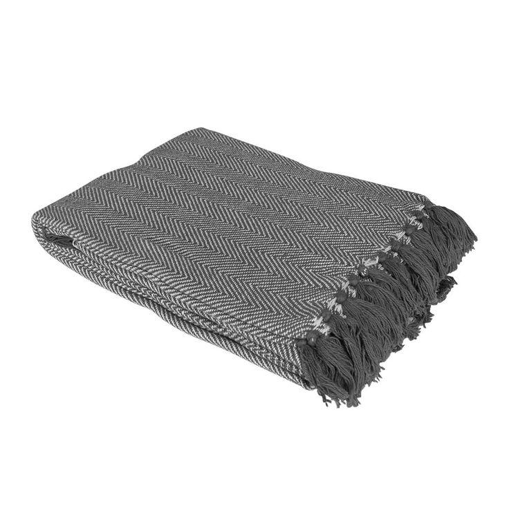 100% COTTON HERRINGBONE SOFA BED SETTEE THROW COVER CHAIR BEDSPREAD BLANKET…