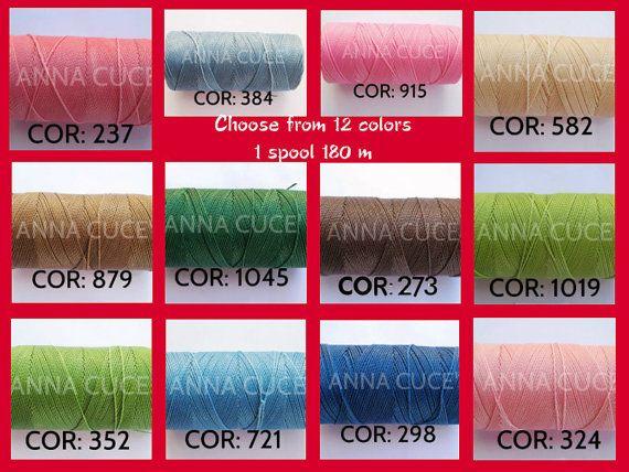 1 bobina 180 m filo cerato LINHASITA 1 mm di spessore di AnnaCuce