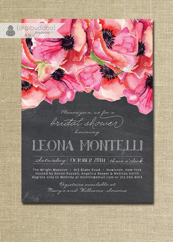 Blush Pink & Gold Bridal Shower Invitation by digibuddhaPaperie
