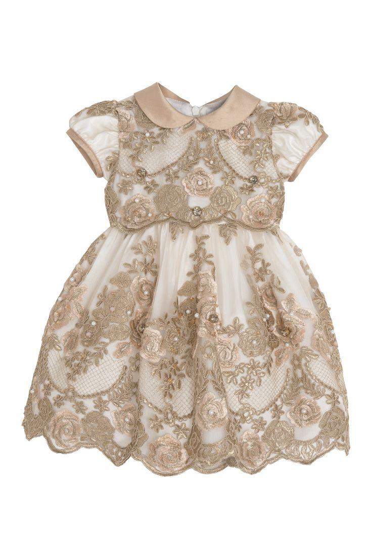Luxury dress precious crystals and silk collar