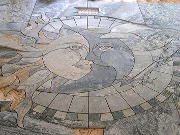 Stone Flooring Murals Sun Custom Design And Tile Designs For Your Home Or Office Kitchen Pinterest Tiles