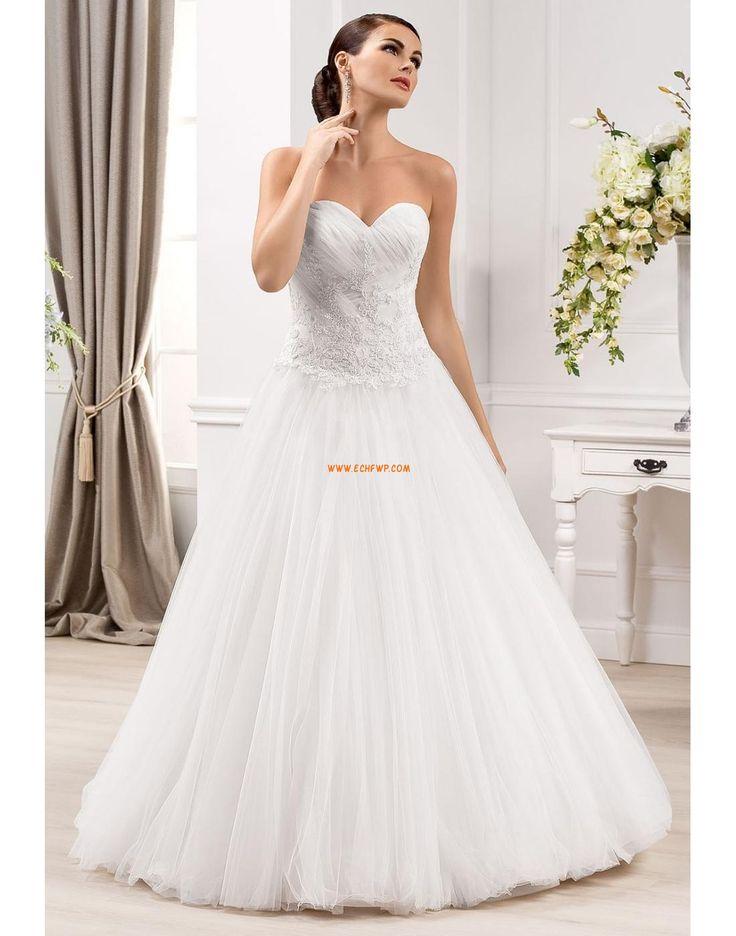 Srdíčko Tyl Bez rukávů Svatební šaty 2014
