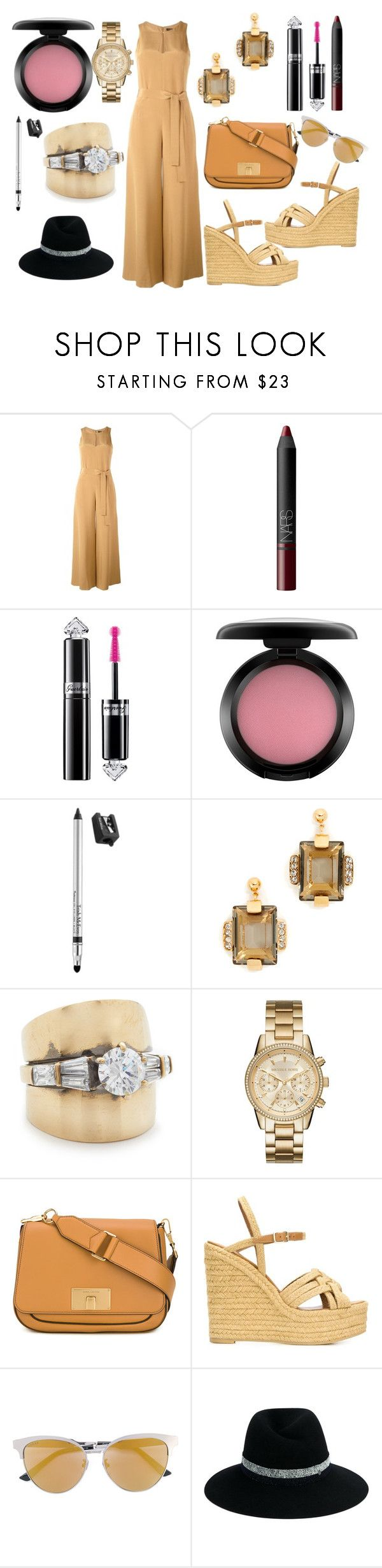 """""""Classy"""" by hillarymaguire ❤ liked on Polyvore featuring Catherine Quin, NARS Cosmetics, Guerlain, MAC Cosmetics, Trish McEvoy, Marni, Iosselliani, MICHAEL Michael Kors, Marc Jacobs and Yves Saint Laurent"""
