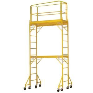 PRO-SERIES 12 ft. 2-Story Rolling Scaffold Tower with 1000 lb. Load Capacity 800364 at The Home Depot - Mobile