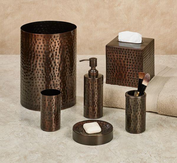 Pressed Metal Bronze Bath Accessories