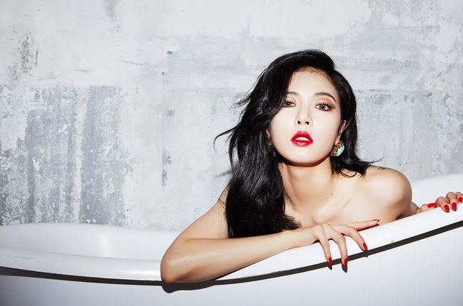 HyunA Poses Topless to Announce New Single 'Red' Off New 'A Talk' Mini-Album: Teaser Photos   Billboard
