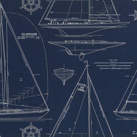 Chesapeake Novelty - White Line On Navy - traditional - wallpaper - Ralph  Lauren Home - 25+ Best Nautical Wallpaper Ideas On Pinterest Wallpaper