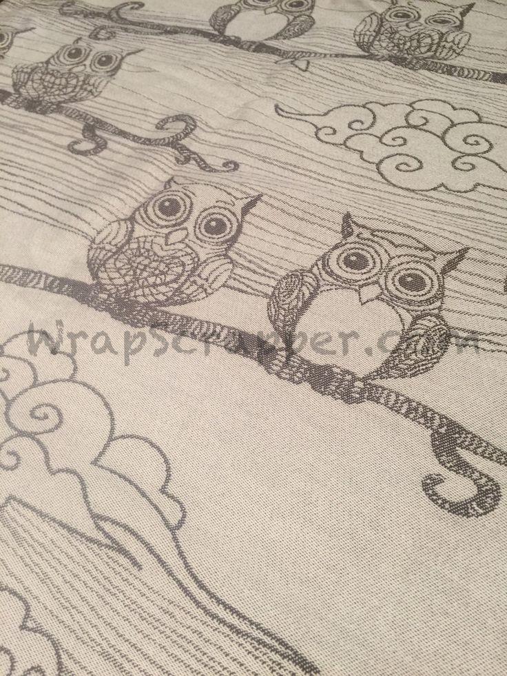 Lenny Lamb Bubo Owls Brown Wrap Scrap
