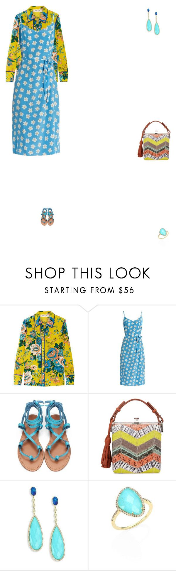"""Grace"" by zoechengrace ❤ liked on Polyvore featuring Diane Von Furstenberg, HVN, Jill Haber and Meira T"