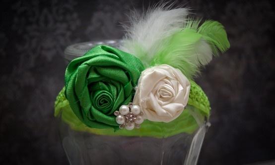 green headband, tinker bell inspired