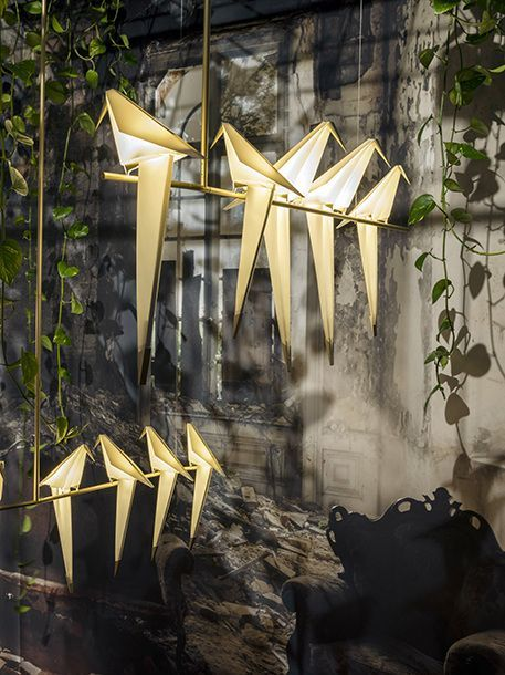 The Perch Light family for Moooi launched at Salone del Mobile, Milan in 2016.