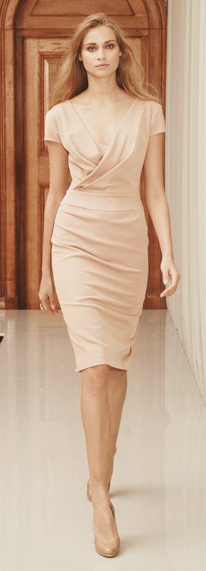 Structured Crème dress, $325 reissonline.com - Photo: Courtesy of Reiss