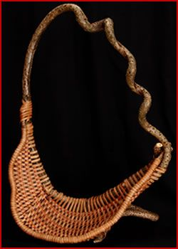 Curles basket-style by master basket weaver Tina Puckett