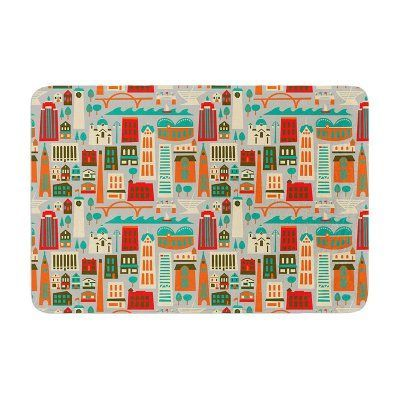 KESS InHouse Allison Beilke My Fair Milwaukee City Memory Foam Bath Mat - AB1009ABM02