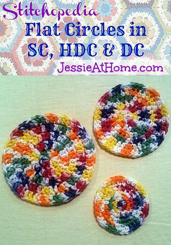 How to make a flat circle in single, half double, or double crochet ✿⊱╮Teresa Restegui http://www.pinterest.com/teretegui/✿⊱╮