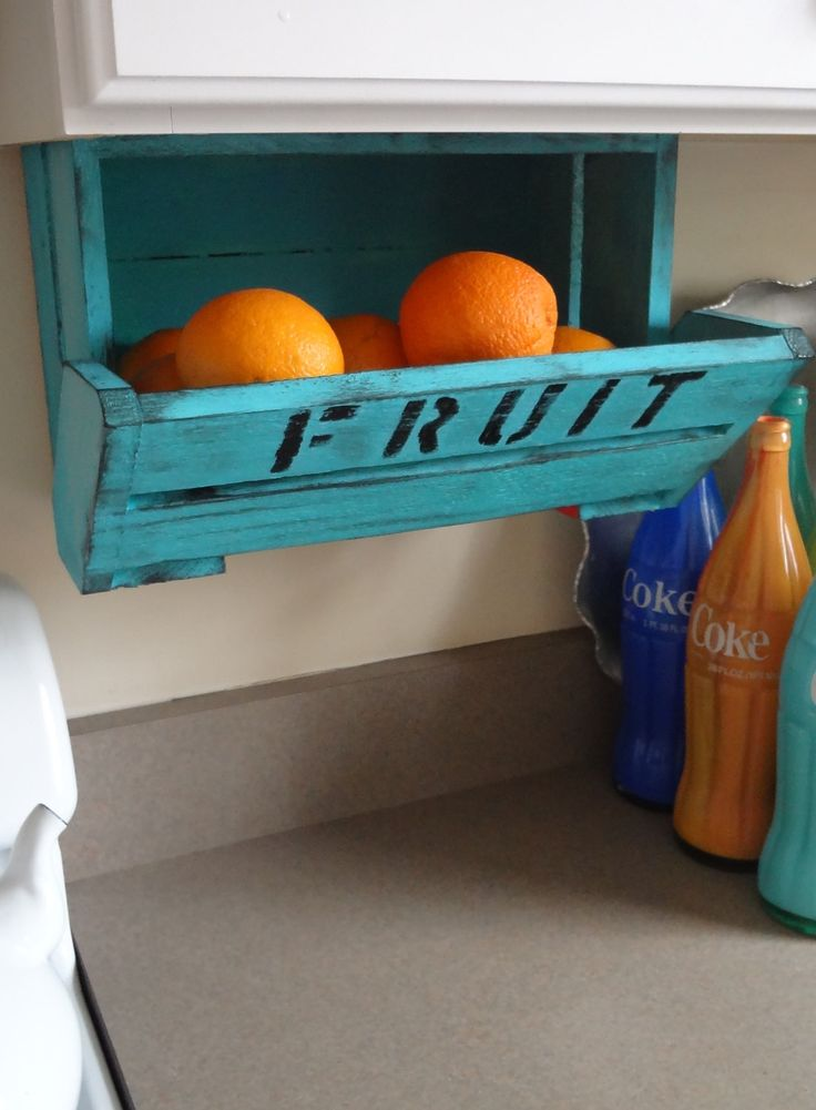 Cool way to store fruit other than in a huge bowl that takes up lots of counter space