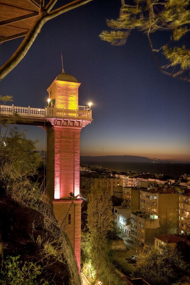 Izmir - Turkey First elevator (asansör) created by a Spanish Jew for his wife.