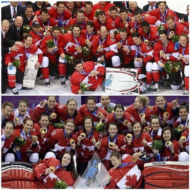 gold  ladies and mens hockey   sochi 2014